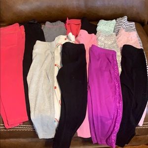 13 pairs of legging 2 pairs of sweatpants